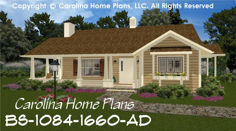 Build-in-Stages Small House Plan BS-1084-1660-AD Sq Ft | Small ...