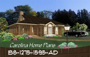 CHP-BS-1275-1595-AD<br />Small Build-in-Stages House Plan<br />2-3 Bedrooms, 1-2 Baths, 1 Story