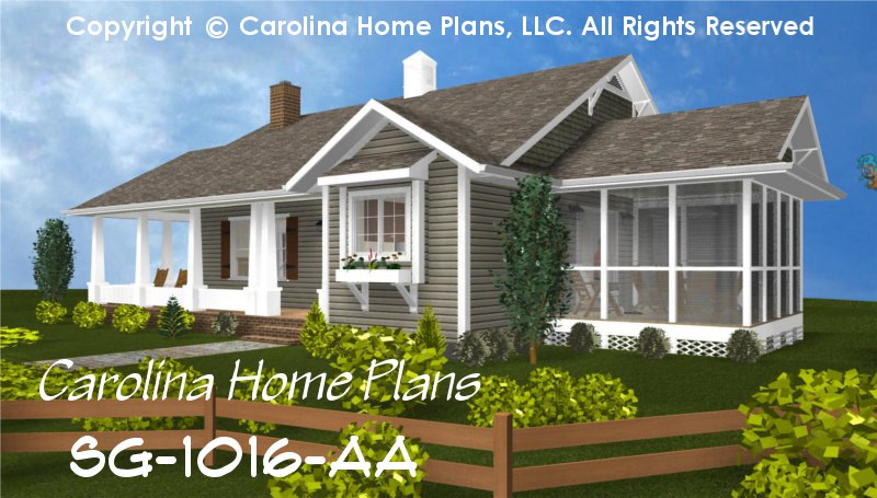 Cottage Style House Plans blueprint quickview front ep Chp Sg 1016 Aasmall Cottage Style House Plan
