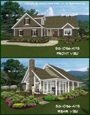 CHP-SG-1096 Small Craftsman Cottage House Plan