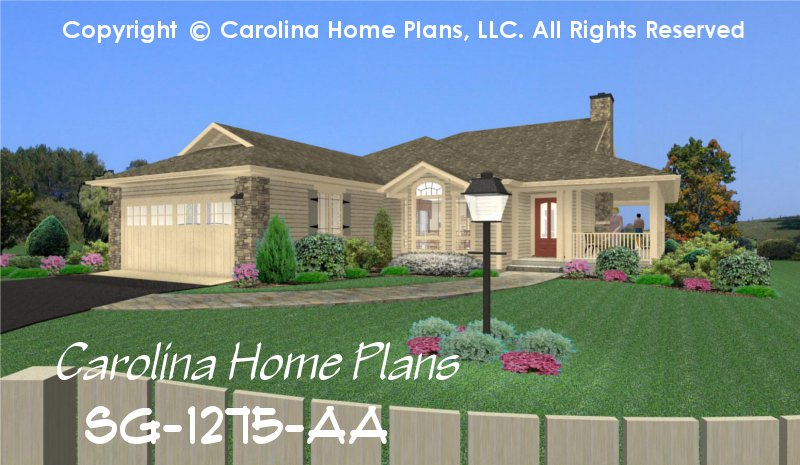 small country style house plan 2 bedroom 1 bath 1 story - Small Home 2