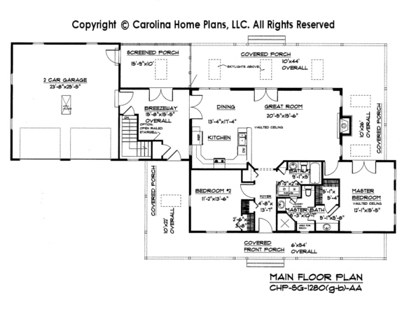 chp sg 1280 aasmall country cottage house plan - Small Cottage House Plans