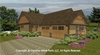 CHP-SG-1596-AA<br />Small Craftsman Bungalow House Plan <br />2 Br, 2½ Baths, 1 Story