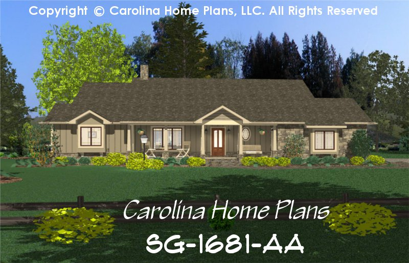 chp sg 1681 aa small country ranch style house plan 3 bedrooms 3 baths 1 story 6 small country ranch style house plan sg 1681 sq ft affordable,House Plans Llc