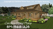 CHP-SM-1568-A2S<br />Small 2 Story Open House Plan <br />3 Br, 3 Baths, 2 Story