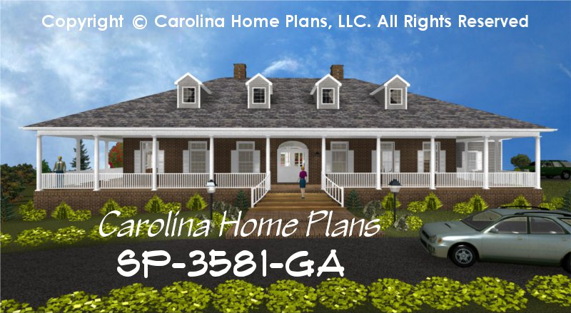 Large Southern Plantation Style House Plan SP-3581 Sq Ft | Luxury ...