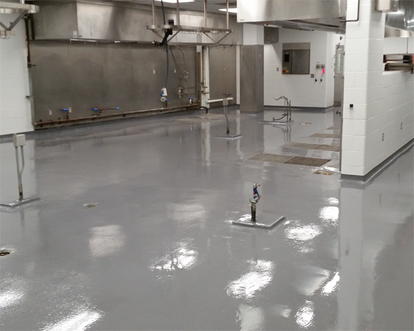 commercial kitchen correction facility epoxy flooring