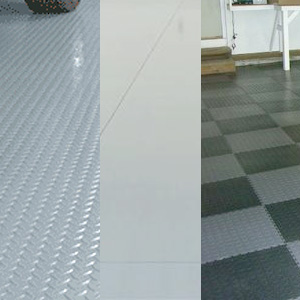EPOXY VS GARAGE TILES VS ROLL OUT MATS