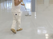 COMMERCIAL EPOXY FLOORING - TWO LAYERS 14 MILS THICK
