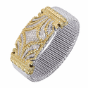 Alwand Vahan Diamond Wide Bracelet