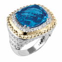 Alwand Vahan London Blue Topaz Ring