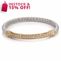ALWAND VAHAN Sterling Silver, 14K Gold & Diamond Bracelet
