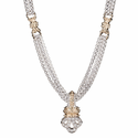 ALWAND VAHAN Sterling Silver ,14K Gold & Diamond Pendant