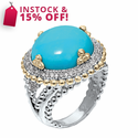 Alwand Vahan Turquoise & Diamond Ring