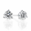 Diamond Stud Earrings .33ctw - 14kw Martini Style