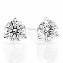 Diamond Stud Earrings .70ctw - 14kw Martini Style