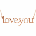 """Love You"" Diamond Necklace"