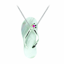Mother of Pearl & Ruby Sandal Necklace