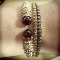 Onyx & Diamond Bracelet by Alwand Vahan