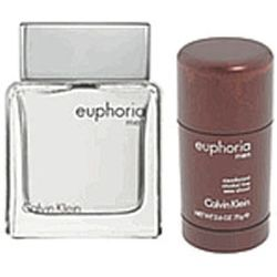Euphoria by Calvin Klein for men 2 Pc Set 3.4 oz EDT Spray & Deodorant