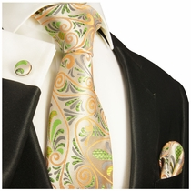 100% Silk Necktie Set by Paul Malone (1005CH)