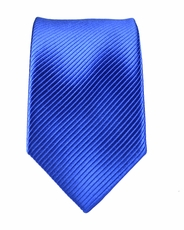 100% Silk Slim Tie by Paul Malone . Royal Blue