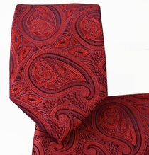 American Beauty Red Tie and Pocket Square Set