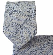 Arctic Ice Paisley Tie and Pcoket Square Set