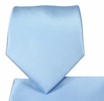 Baby Blue Necktie and Pocket Square