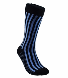 Black and Blue Striped Cotton Socks by Paul Malone