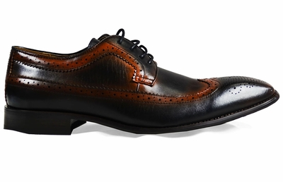 Black and Brown Full Brogue Derby