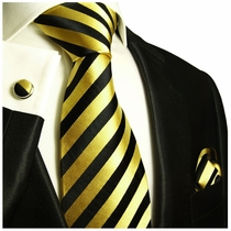 Black and Gold Powertie Set by Paul Malone (830CH)