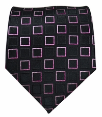 Black and Pink Paul Malone Silk Necktie (964)
