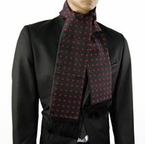 Black and Red Polka Dots Men's Scarf (SC487-A)