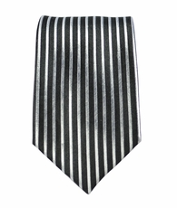 Black and Silver Slim Tie by Paul Malone (Slim408)