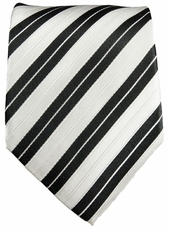 Black and White Neck Tie by Paul Malone (302)