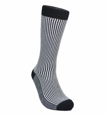 Black and White Striped Cotton Socks by Paul Malone