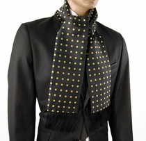 Black and Yellow Polka Dots . Men's Scarf (SC487-I)