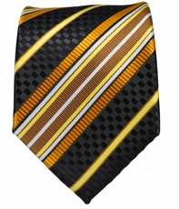 Black, Gold and Bronze Necktie