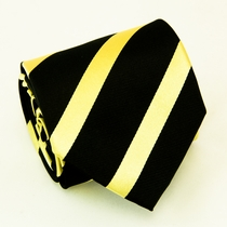 Black & Gold Paul Malone Silk Tie (828)