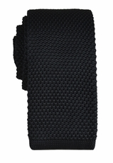 Black Knit Tie by Paul Malone (KN671)