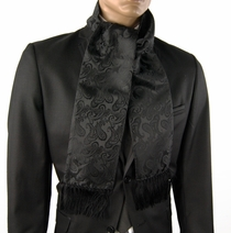 Black Paisley Men's Scarf (SC276N)