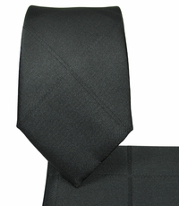 Black Slim Necktie and Pocket Square Set (Q131)
