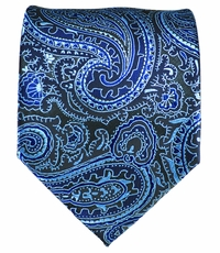 Blue and Black Men's Necktie