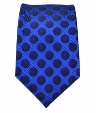 Blue and Black Slim Tie by Paul Malone . 100% Silk