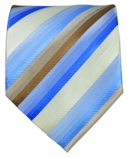 Blue and Brown Striped Men's Tie