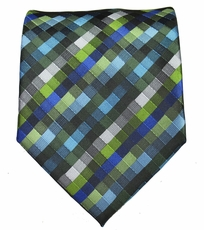 Blue and Green Men's Necktie