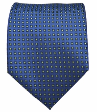 Blue and Green Polka Dot Men's Tie