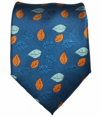 Blue and Orange Men's Necktie
