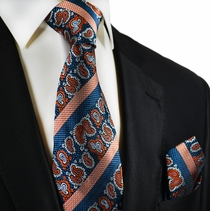 Blue and Orange Necktie and Square by Paul Malone